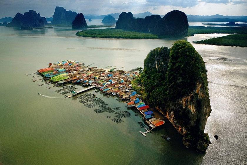 کوه پان یی؛ روستای شناور تایلند