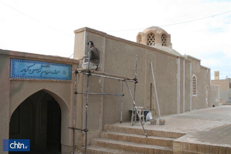 مرمت نمای بیرونی خانه تاریخی پیرنیا در نایین