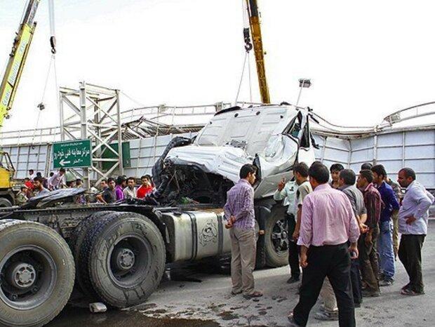 پلیس راهور، سانحه رانندگی در محور اسلام آبادغرب - کرمانشاه