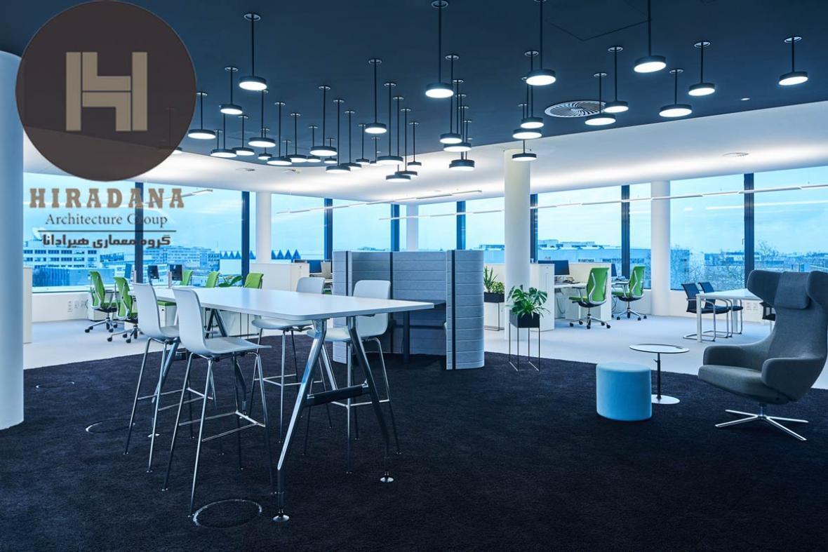 طراحی داخلی اداری دفتر مرکزی Trilux