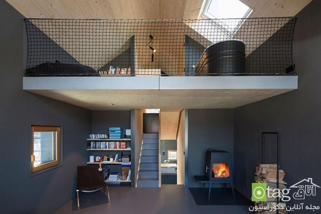 خانه ویلایی چوبی با طراحی بسیار شیک و استفاده بهینه از فضا