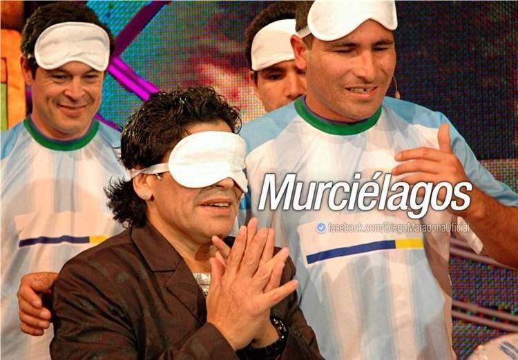 خاطره ای جالب از دیدار مارادونا با فوتبالیست های نابینا