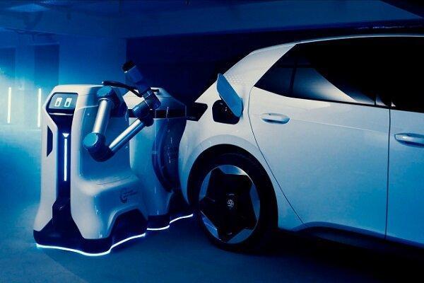 تولید ربات شارژ سیار خودروهای برقی