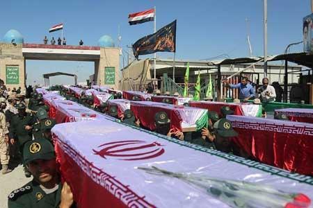 پیکر پاک و مطهر 55 شهید تازه تفحص شده دفاع مقدس به آغوش وطن بازگشتند