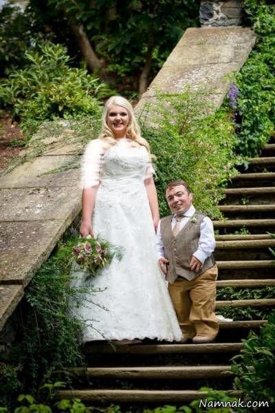 مراسم ازدواج مرد 91 سانتی با زن قدبلند زیبا