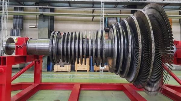 از نخستین روتور توربین بخار ساخت ایران رونمایی شد