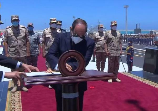 پیشرفته ترین پایگاه نظامی مصر در مدیترانه افتتاح شد، عکس