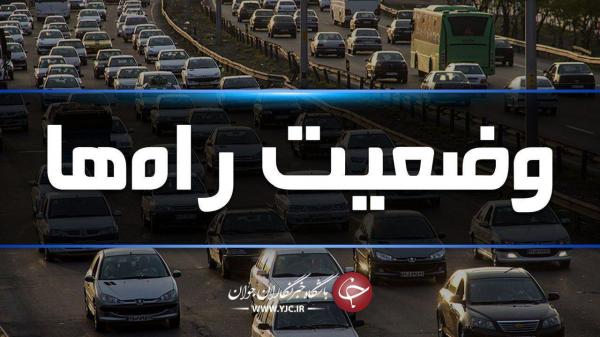 ترافیک سنگین در آزادراه تهران، کرج